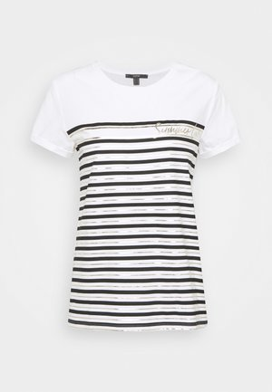 LOVE STRIPE  - Print T-shirt - off white