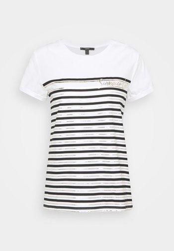 LOVE STRIPE  - Print T-shirt - off white