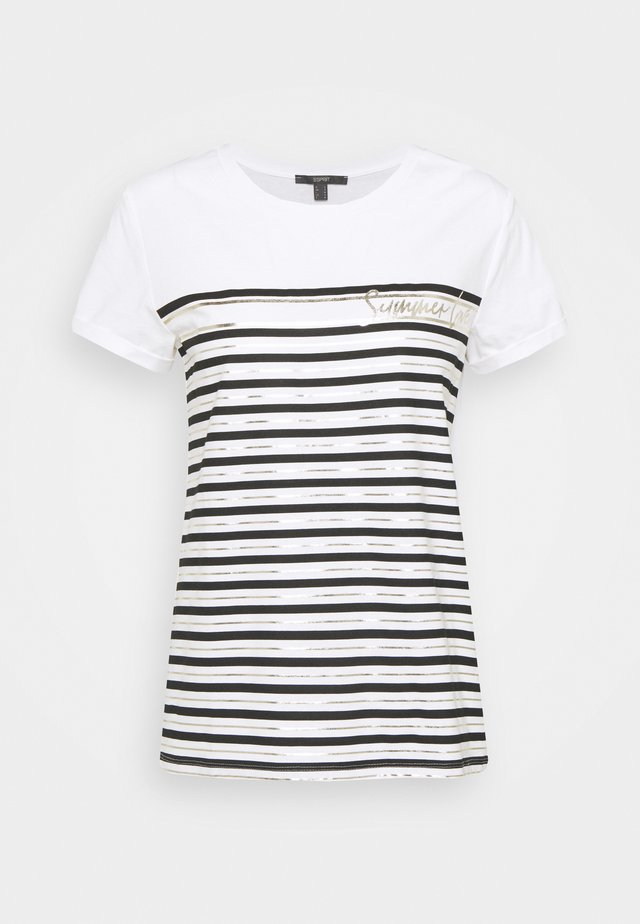 LOVE STRIPE  - T-shirt print - off white
