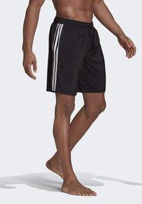 adidas Performance - 3 STRIPES CLASSICS PRIMEGREEN SWIM SHORTS - Shorts da mare - black/white - 2