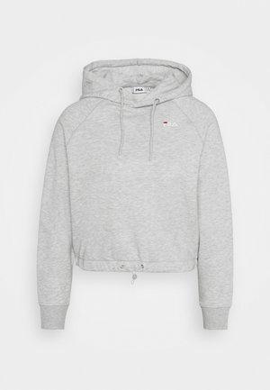 ELAXI CROPPED HOODY - Sweatshirt - light grey melange