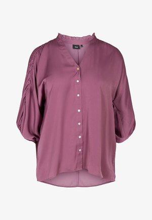 Button-down blouse - light purple