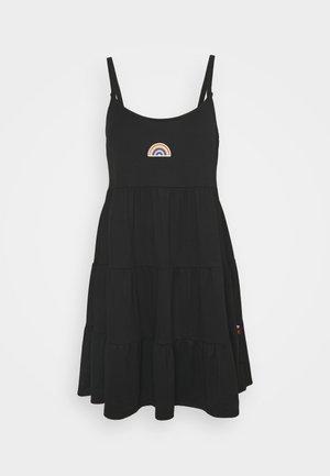 PRIDE CAPSULE EMBROID BABYDOLL DRESS - Jersey dress - black