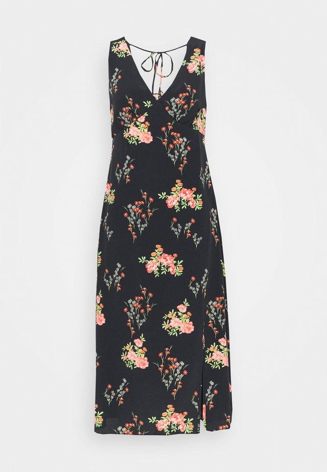 LADIES DRESS FLORAL SPLIT - Robe d'été - black/pink