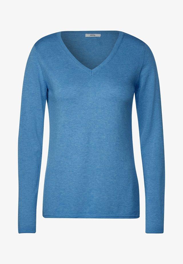 BASIC  - Pullover - blau