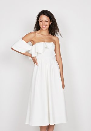 FRILL FIT &AMP - Cocktailjurk - off-white
