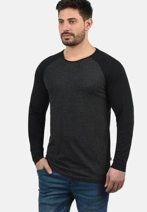 Langærmede T-shirts - dark grey melange