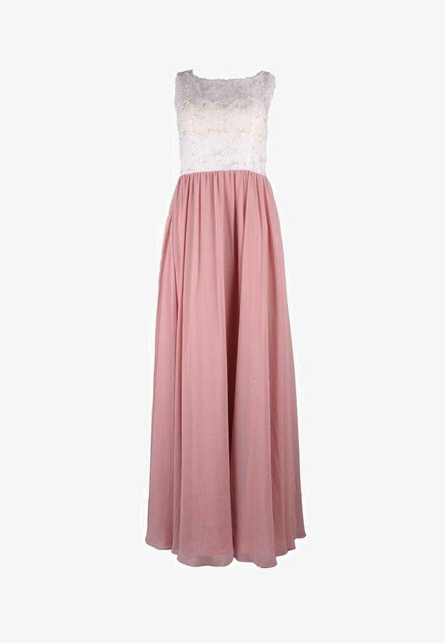 Maxi dress - rosa weiß