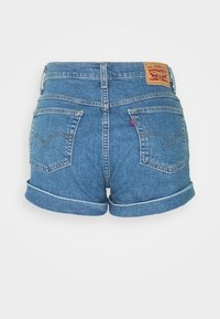Levi's® - MOM LINE  - Denim shorts - light blue denim