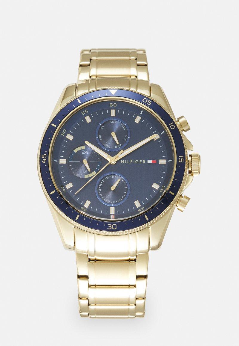 Tommy Hilfiger - PARKER - Watch - gold-coloured/blue