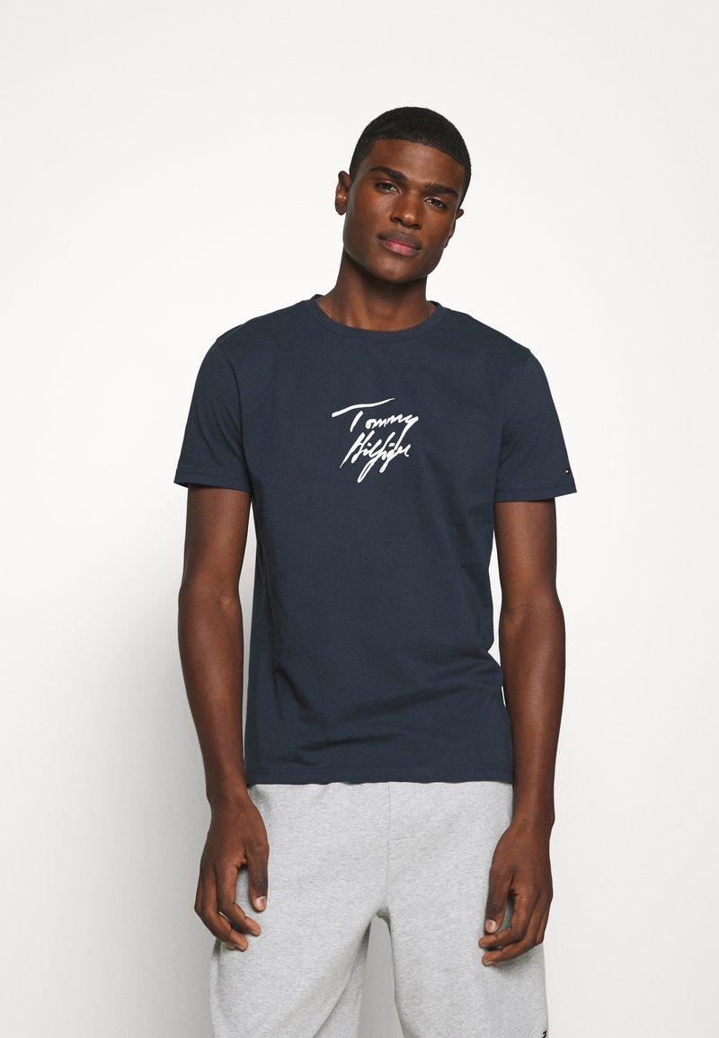 Tommy Hilfiger - TEE LOGO - Pyjama top - blue
