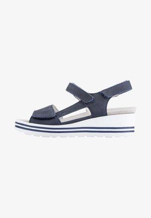 Sandalen met sleehak - marine (217)
