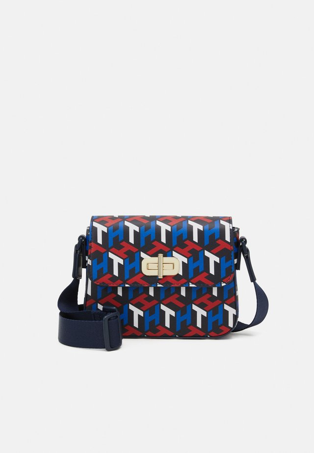 MINI ME MONOGRAM TURNLOCK - Sac bandoulière - blue