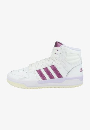 ENTRAP MID - Basketball shoes - footwear white-cherry metallic-purple tint