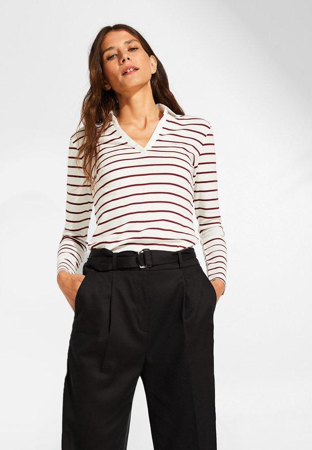 LONGSLEEVE - Polo shirt - garnet red