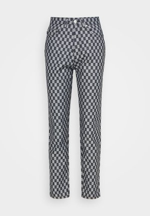 CHECKERBOARD - Straight leg jeans - light vintage