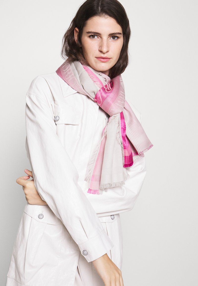 Emporio Armani - STOLE LIGHTWEIGHT FADED LOGO - Šála - pop pink