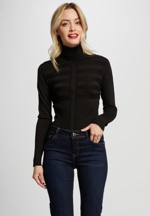 WITH TURTLENECK - Jumper - black