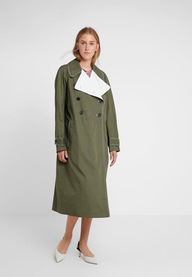 HAZINA - Classic coat - olive night