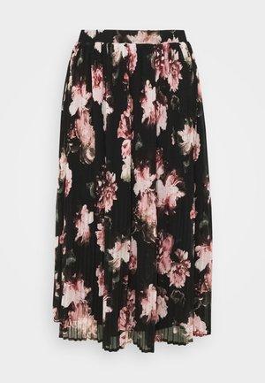 VITAFFY  - Pleated skirt - black/flower