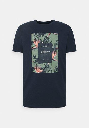 JORFLORALL - T-shirt z nadrukiem - navy blazer