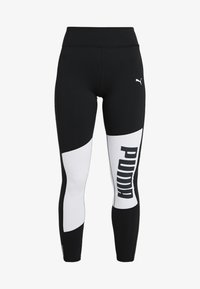 Puma - LOGO GRAPHIC  - Leggings - puma black/puma white - 3