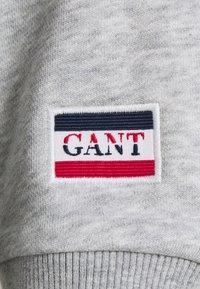 GANT - GRAPHIC HOODIE DRESS - Vestido informal - light grey melange - 2