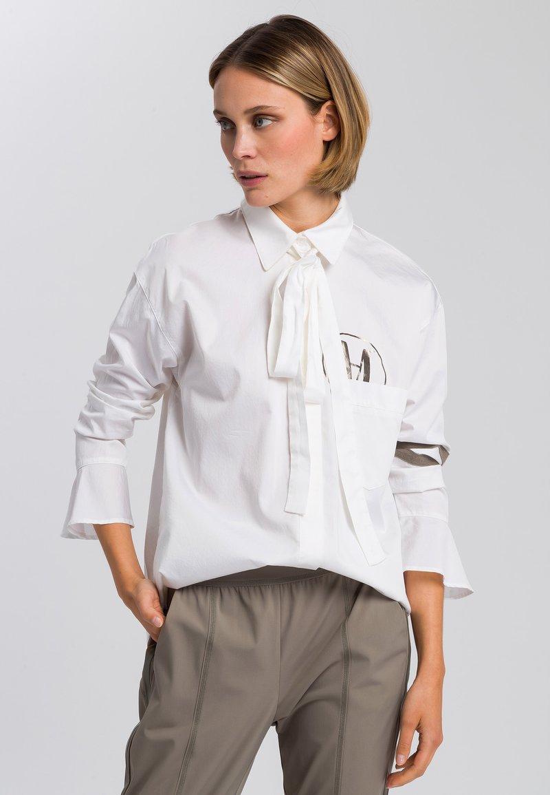 Marc Aurel - Button-down blouse - white varied