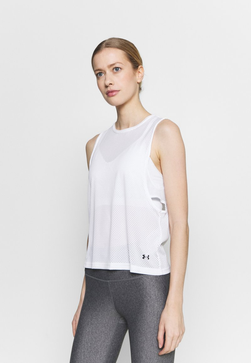 Under Armour - MUSCLE TANK - Sports shirt - white