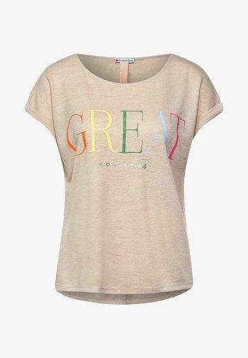 T-shirt con stampa - braun