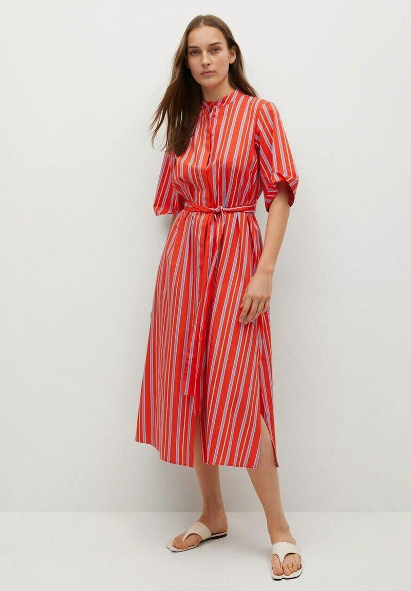 Mango - Vestido camisero - rot