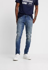G-Star - 3301 SLIM - Jeansy Slim Fit - elto superstretch/vintage medium aged - 0