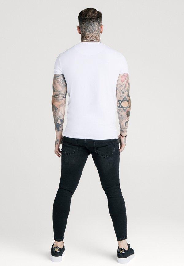 SIKSILK SHORT SLEEVE GYM - T-shirt basic - white/biały Odzież Męska BNLU