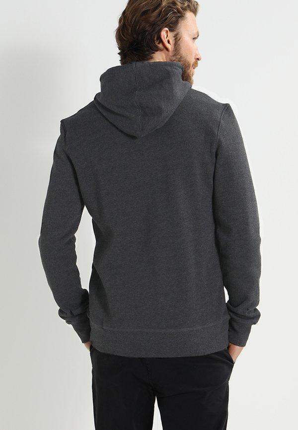 Pier One Bluza rozpinana - black melange/czarny melanż Odzież Męska TMOE