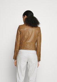 DRYKORN - PAISLY - Leather jacket - braun - 2