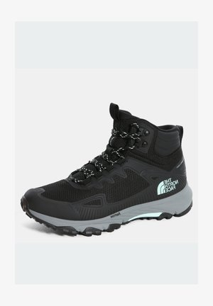 W ULTRA FASTPACK IV MID FUTURELIGHT - Hiking shoes - tnf black/moonlight jade