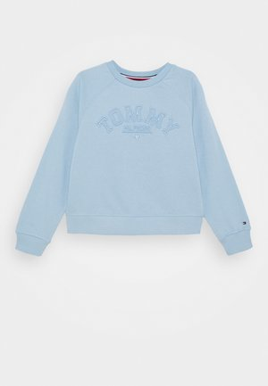 TONAL EMBROIDERED GRAPHIC CREW - Sweatshirts - blue