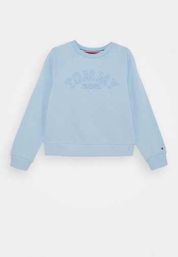 TONAL EMBROIDERED GRAPHIC CREW