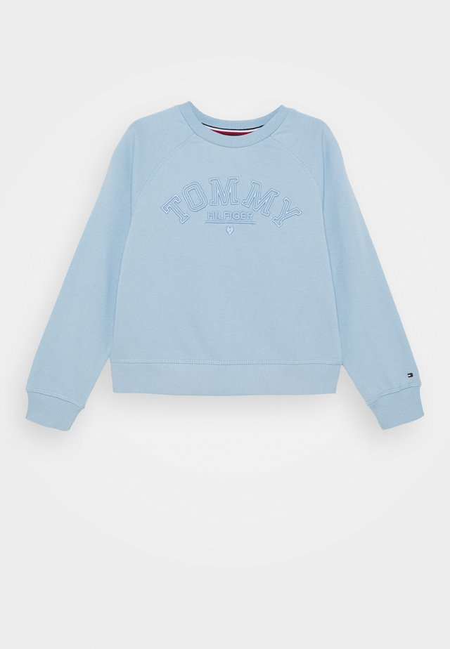 TONAL EMBROIDERED GRAPHIC CREW - Sweatshirt - blue