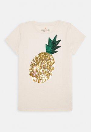 SEQUIN PINEAPPLE - T-shirts print - white