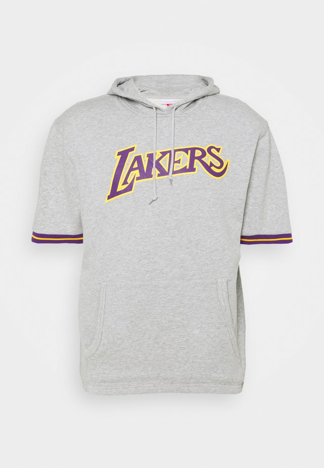 LA LAKERS SHORT SLEEVE HOODY - Article de supporter - grey