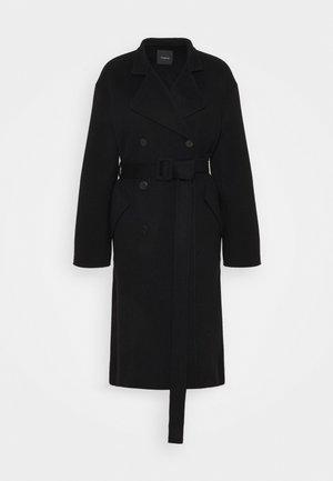 BELT COAT LUXE - Cappotto classico - black