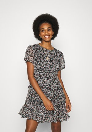 JDYDITSY LAYER DRESS  - Day dress - black/multicolor