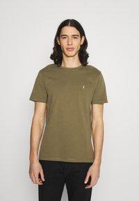 AllSaints - BRACE CREW - Basic T-shirt - saguaro green - 0