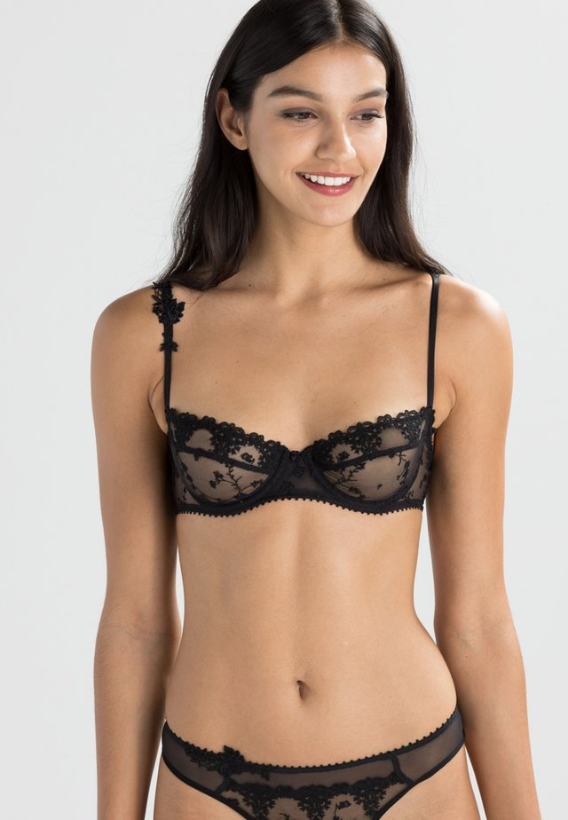 NIGHTS - Balconette bra - schwarz