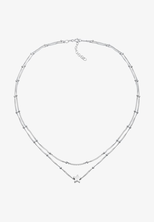 CHOKER LAYER LOOK STAR - Collana - silber
