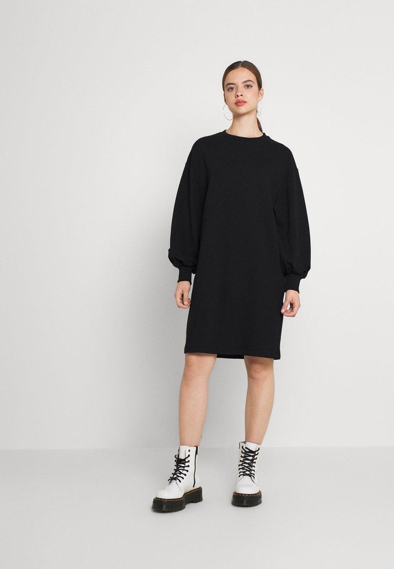 NU-IN - PUFF SLEEVE DRESS - Jurk - black
