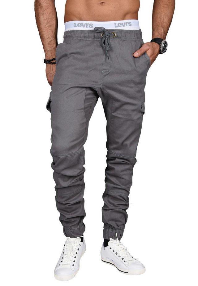 DESIGNER - Cargo trousers - grau