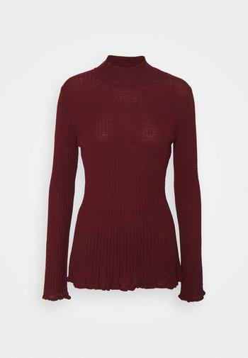 MOCK NECK - Long sleeved top - cabernet