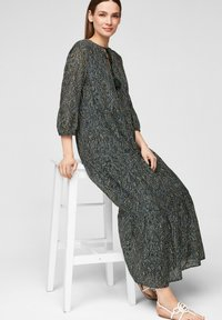 s.Oliver BLACK LABEL - Maxi dress - dark green aop - 5